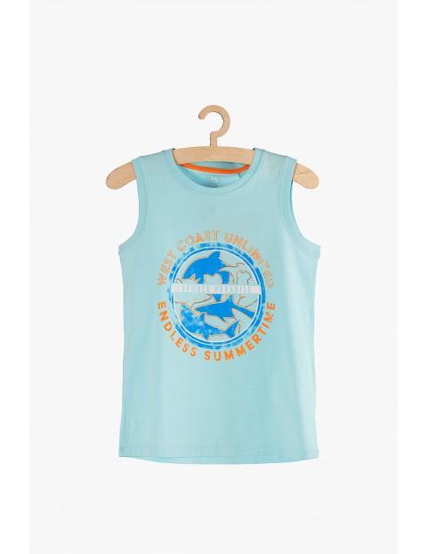 Koszulka chłopięca niebieska na ramiączka