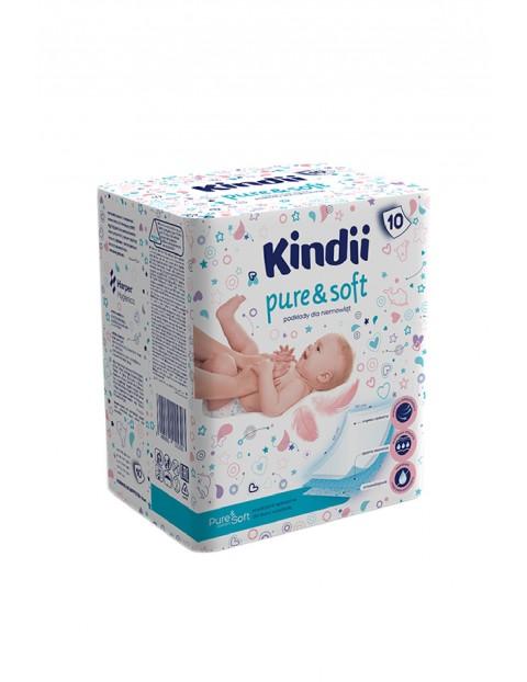 Podkłady jednorazowe Kindii Pure& Soft 10 szt. (60x60cm)