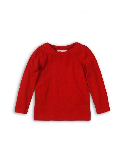 Czerwona bluzka z długim rękawem- basic