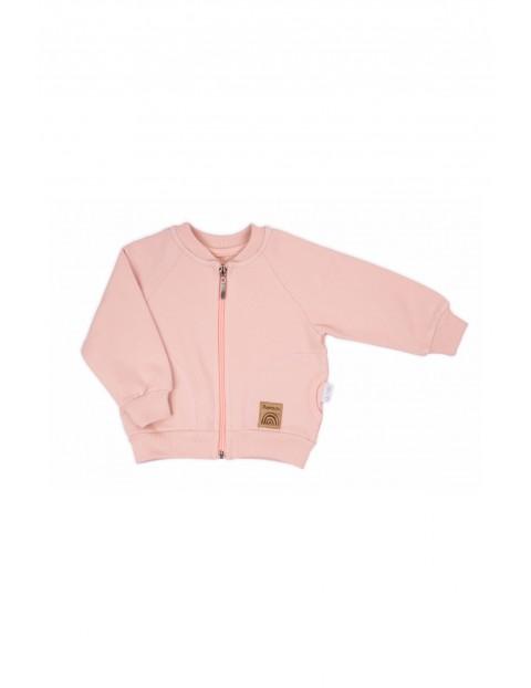Bluza niemowlęca bomberka Rainbow - różowa