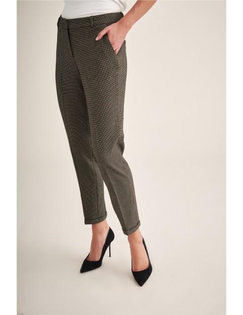 Spodnie damskie brązowe