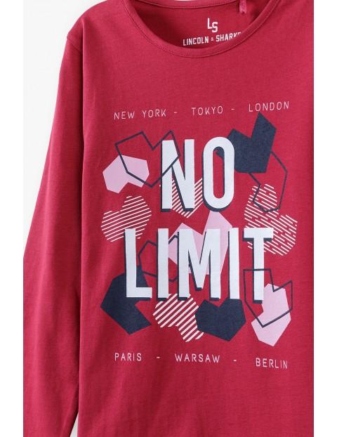 Bawełniana bluzka dziewczęca z napisem No Limit