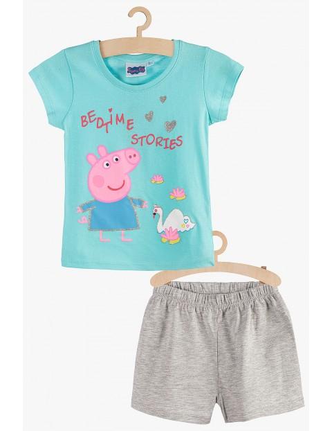 Pidżama dla dziewczynki Świnka Peppa niebiesko-szara