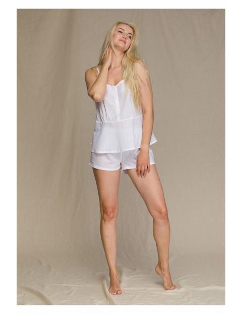 Biała piżama na ramiączkach
