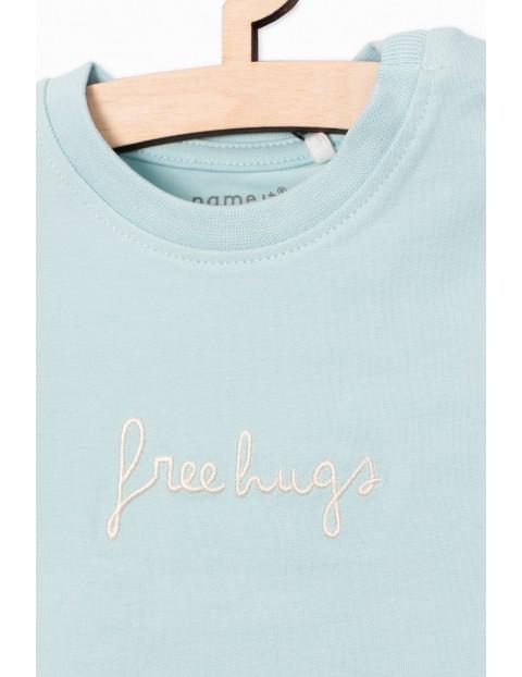 Bluzka z długim rękawem- niebieska