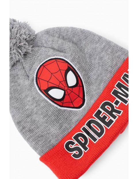 Czapka zimowa szara Spiderman