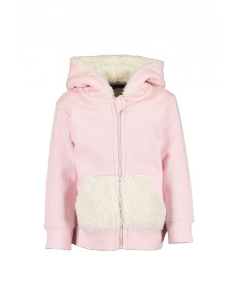 Ocieplana bluza dla niemowlaka- różowa