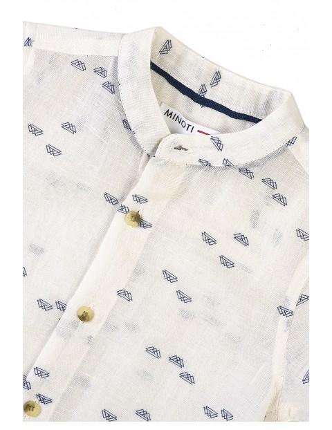Biała koszula niemowlęca z krótkim rękawem