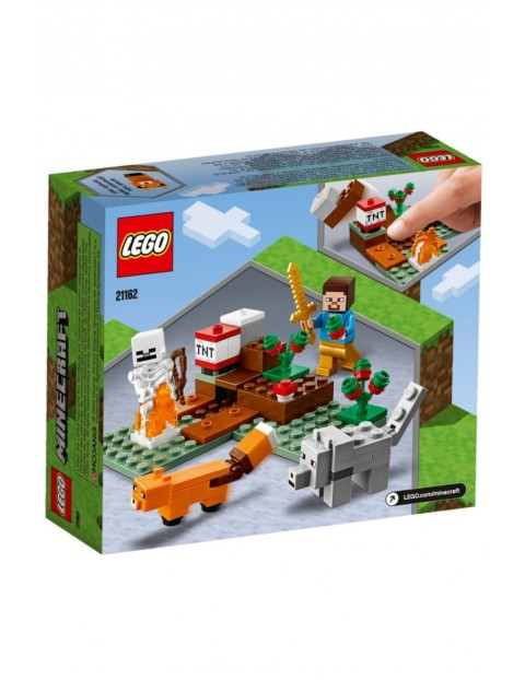 Klocki Lego Minecraft - Przygoda w tajdze - 74 elementy wiek 7+