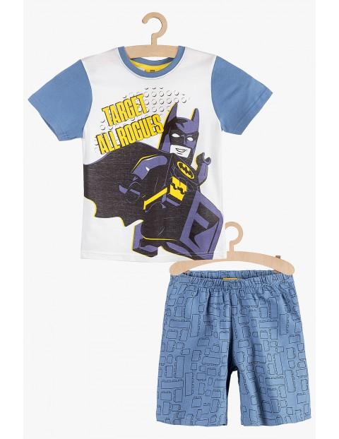 Pidżama chłopięca Lego Batman niebiesko-biała rozmiar 140