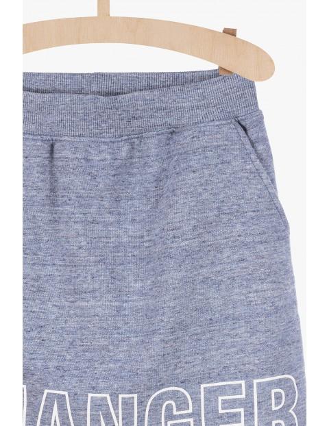 Spódnica sportowa z miękkiej dzianiny dresowej- niebieska