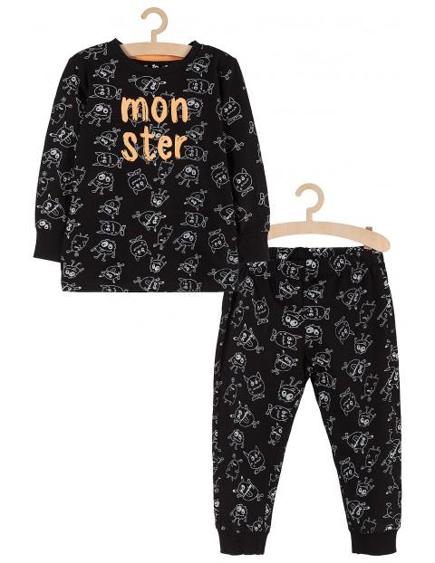 Piżama chłopięca czarna w zabawne stwory