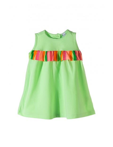 Kolorowa sukienka dla niemowlaka