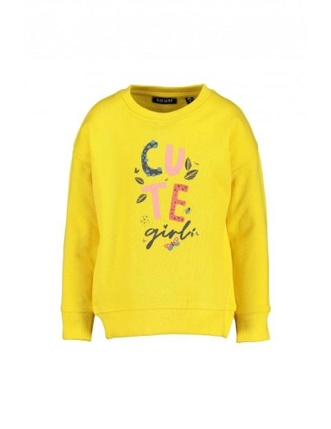 Żółta bluz dresowa dla dziewczynki