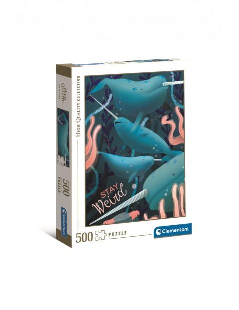 Puzzle Clementoni Fantastyczne zwierzęta Narwal - 500 elementów