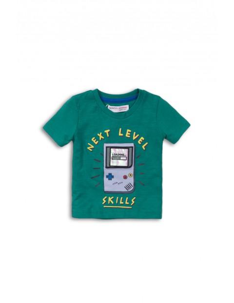 T-shirt chłopięcy zielony-Net level