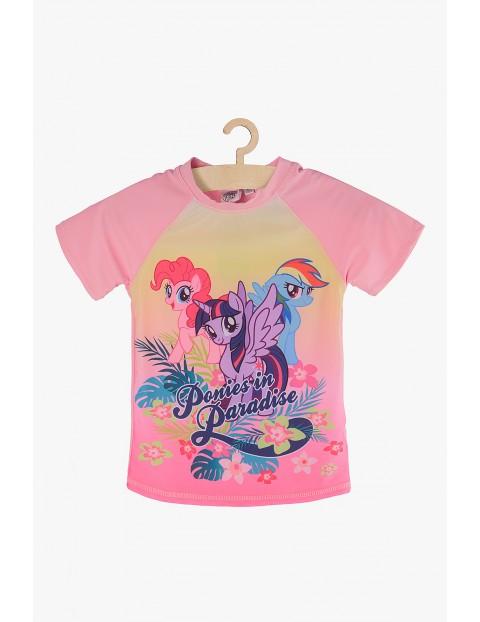 T-shirt kąpielowy dla dziewczynki- My Little Pony - różowy