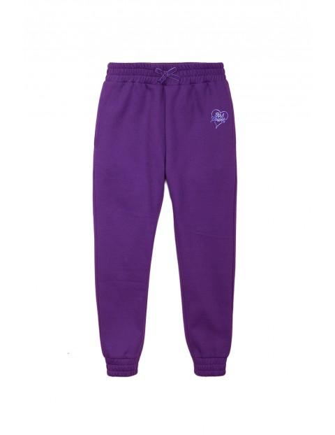 Spodnie dresowe dziewczęce fioletowe