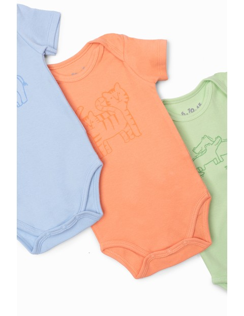 Body niemowlęce 3-pak z krótkim rękawem