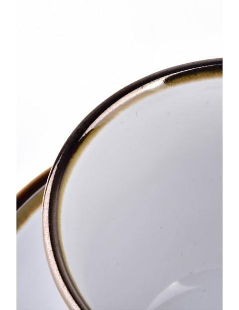 CAL WHITE Filiżanka porcelanowa 280ml ze spodkiem 15cm