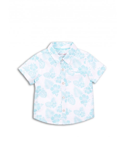 Koszula niemowlęca w niebieskie kwiaty