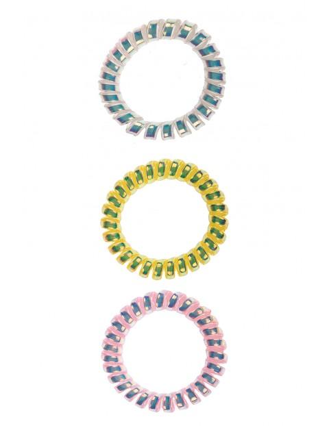 Kolorowe gumki do włosów-3pak