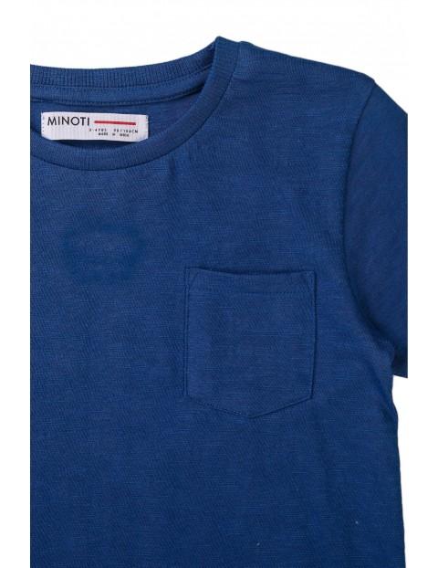 T-shirt chłopięcy bawełniany z kieszonką
