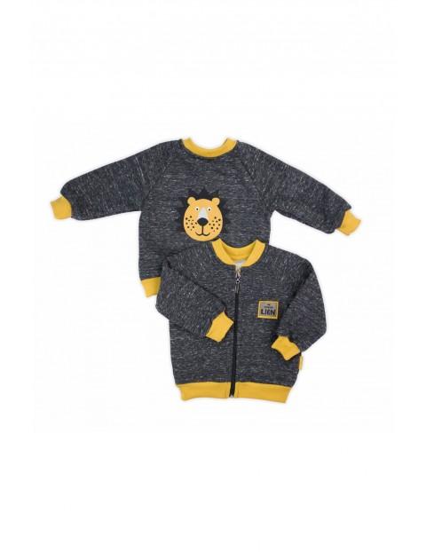 Bluza dresowa niemowlęca-szara Lion
