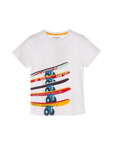 T-shirt bawełniany dla chłopca- deskorolki