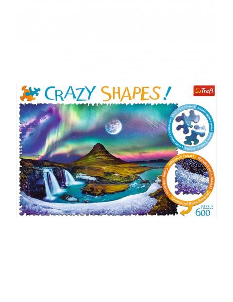 Puzzle Crazy Shapes - Zorza nad Islandią - 600 elementów