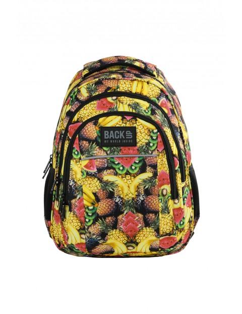 Plecak szkolny BACKUP w kolorowe owoce