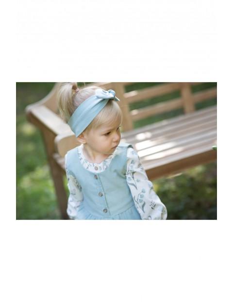 Dziewczęca opaska w modnym odcieniu mięty