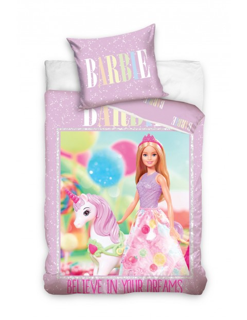 Pościel bawełniana Barbie 160x200+70x80cm