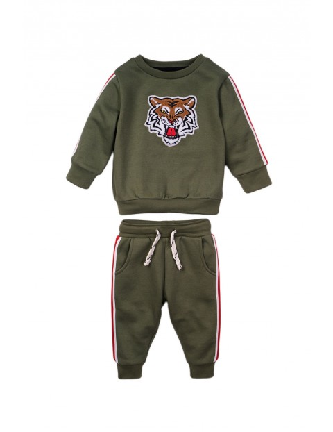 Komplet niemowlęcy bluza i spodnie - Tygrys