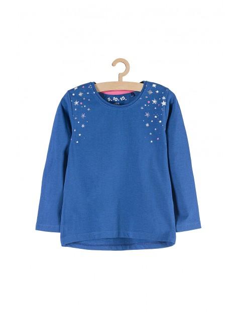 Bluzka dziewczęca niebieska z gwiazdkami