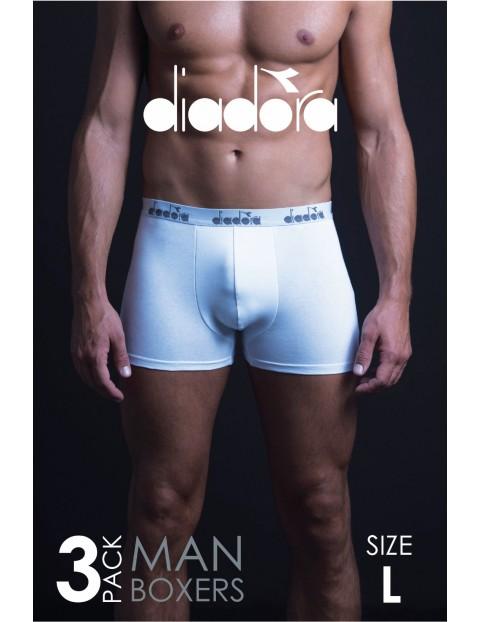 Diadora bokserki męskie białe 3pak