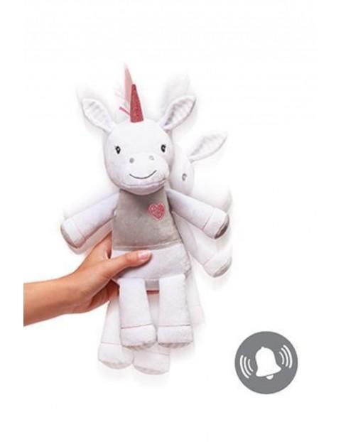 Przytulanka dla niemowląt z grzechotką Unicorn Lucky- 34cm