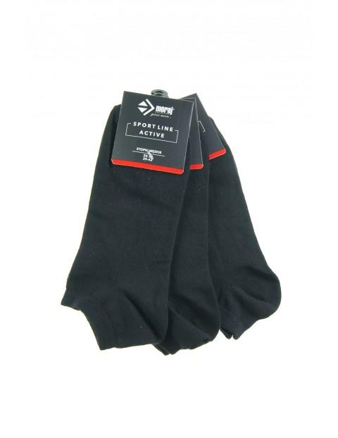 Stopki męskie w kolorze czarnym 3pak