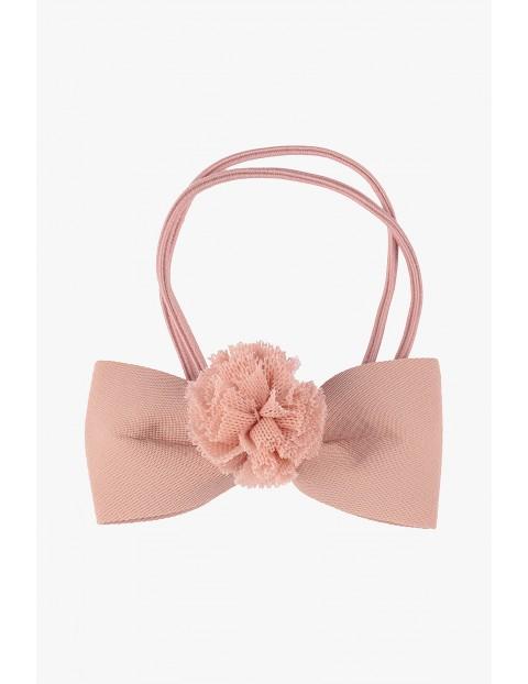 Gumka do włosów różowa kokardka