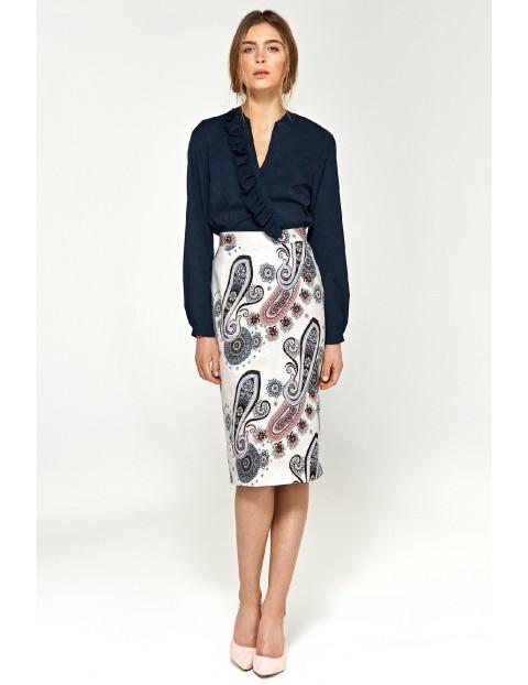 Ołówkowa spódnica damska we wzór