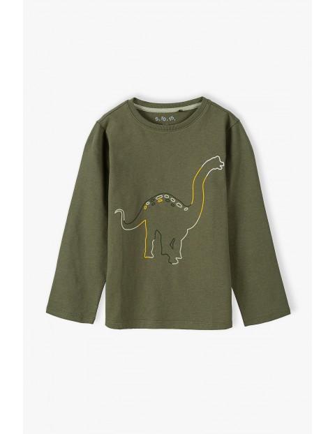 Bawełniana bluzka chłopięca z długim rękawem Dino