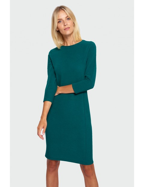 Sukienka damska w kolorze butelkowej zieleni