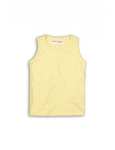 Bluzka chłopięca żółta na ramiączka