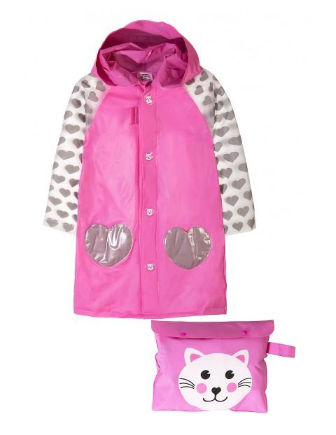 Płaszcz przeciwdeszczowy dla dziewczynki-kot
