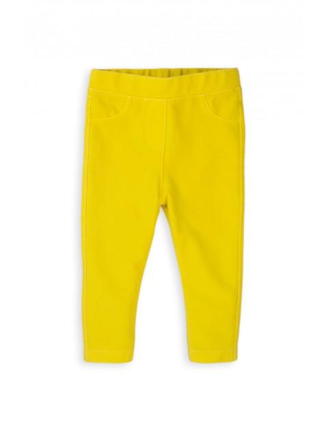 Jegginsy niemowlęce w kolorze żółtym