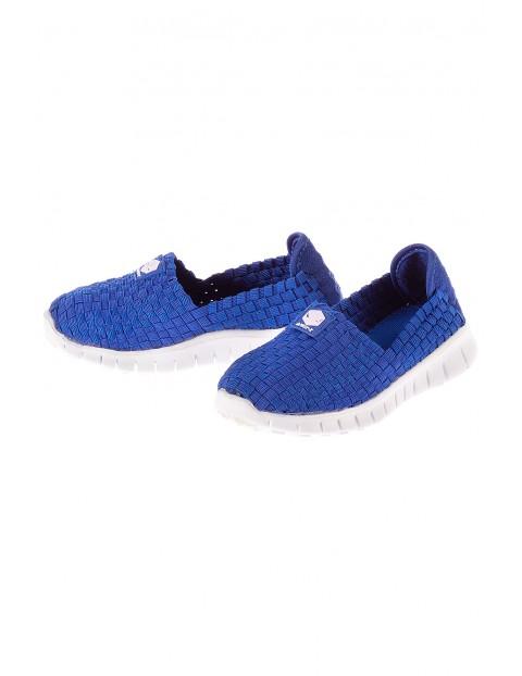 Buty sportowe dla dziecka- niebieskie na białej podeszwie