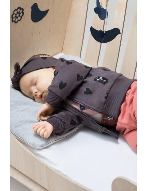 Bluza niemowlęca rozpinana Little Bird- serduszka
