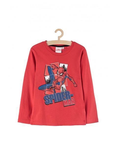 Bluzka chłopięca z długim rękawem Spiderman-czerwona