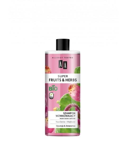 AA Super Fruits&Herbs szampon wzmacniający włosy suche i łamliwe opuncja&amarantus 500 ml