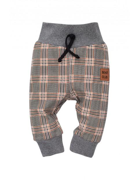 Spodnie niemowlęce w kratę Bears Club